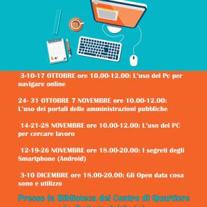 Laboratori gratuiti di alfabetizzazione informatica e web