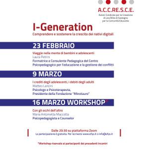 Seminari Accresce I-Generation su infanzia e adolescenza