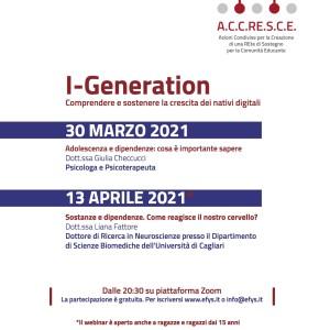 Seminari Accresce I-Generation su adolescenza e dipendenza